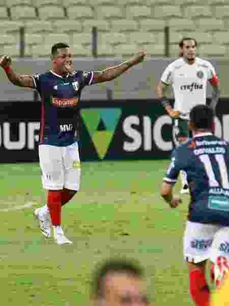 David comemora gol do Fortaleza contra o Palmeiras - KELY PEREIRA/ESTADÃO CONTEÚDO - KELY PEREIRA/ESTADÃO CONTEÚDO