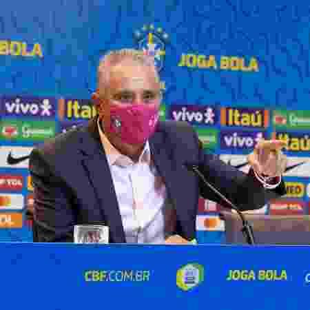 Tite durante convocação da seleção brasileira - Lucas Figueiredo/CBF