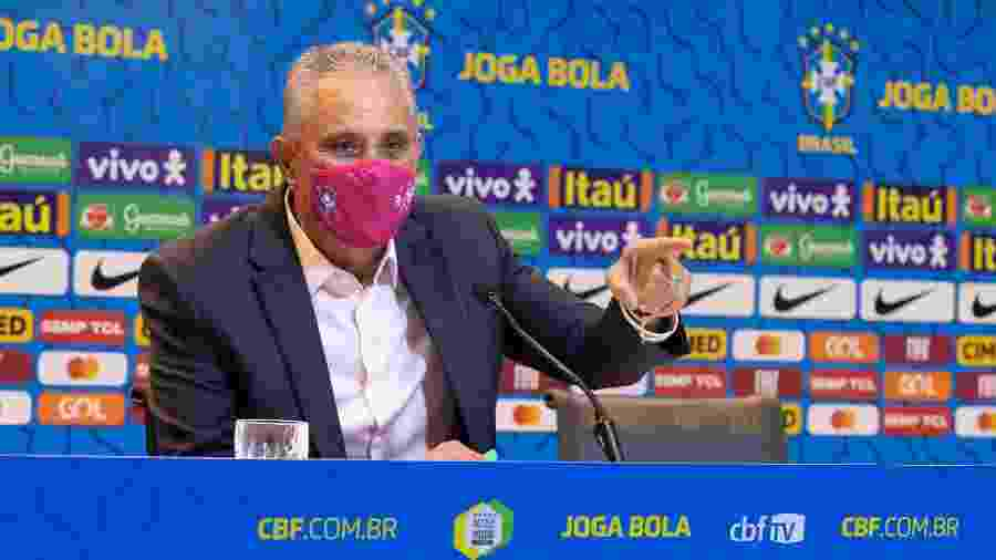 Tite, durante convocação da seleção brasileira - Lucas Figueiredo/CBF