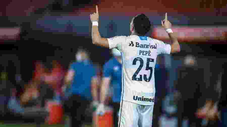 Pepê comemora gol e arrancada impressionante do Grêmio na temporada - Lucas Uebel/Grêmio