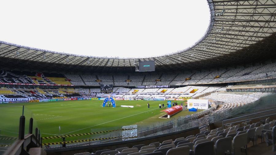 Estádio do Mineirão pronto para partida do Atlético-MG no Campeonato Brasileiro 2021 - Fernando Moreno/AGIF