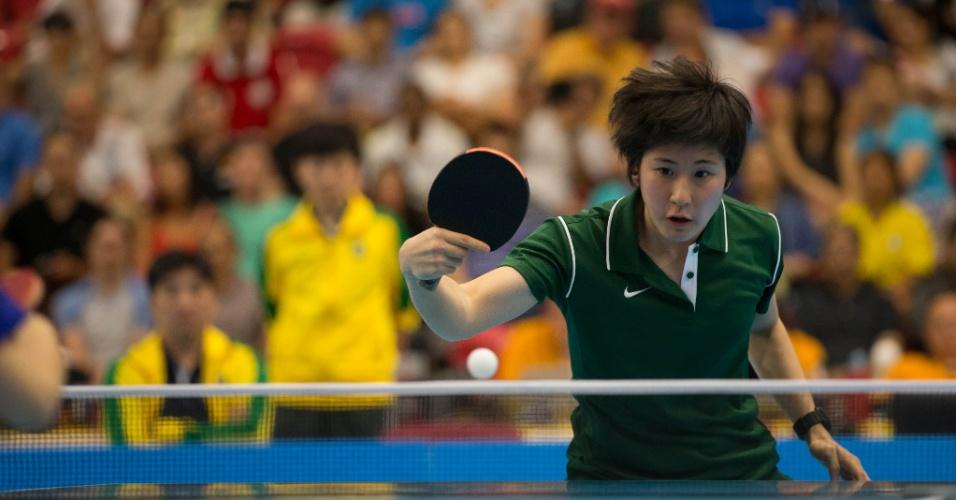 A equipe brasileira feminina de tênis de mesa conquistou a medalha de prata