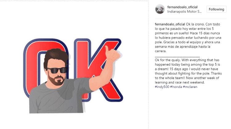 F. Alonso - Reprodução / Instagram - Reprodução / Instagram