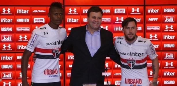Pinotti durante a apresentação de jogadores do São Paulo