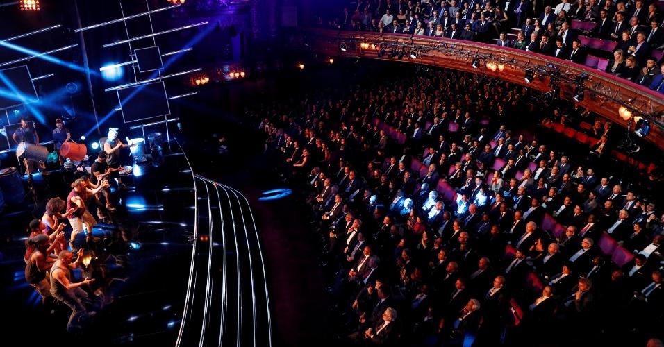 Vista geral do London Palladium, que recebe a premiação dos melhores da Fifa
