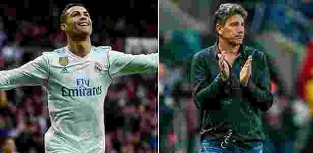 Cristiano Ronaldo e Renato Gaúcho travam duelo na final do Mundial de Clubes - Montagem