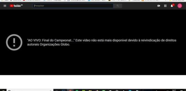 Globo pediu o bloqueio da transmissão no YouTube: disputa judicial
