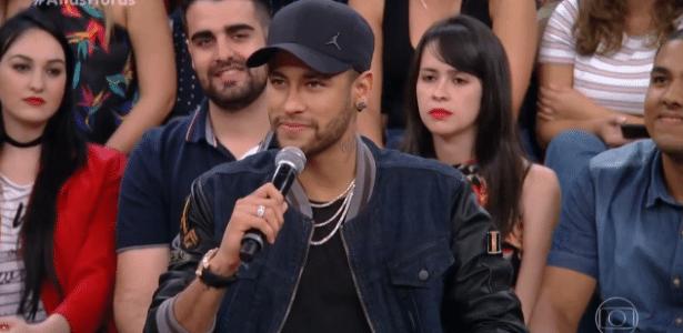 """Neymar participa do programa """"Altas Horas"""", da TV Globo - Reprodução/TV"""