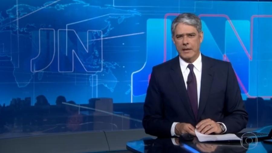 Apresentador da TV Globo William Bonner leu texto curto sobre a morte de Eurico Miranda - Reprodução