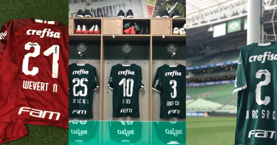 3e9621175 Camisas do Palmeiras sem as letras A, B e O