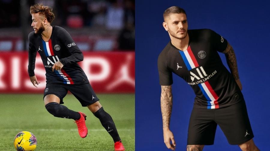 """PSG lança nova camisa com a Jordan: """"Simboliza futebol e basquete"""" - divulgação/PSG"""
