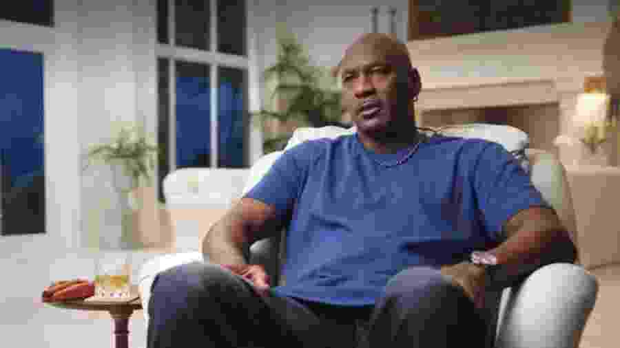"""Michael Jordan durante o documentário """"The Last Dance"""" - Reprodução/Netflix"""