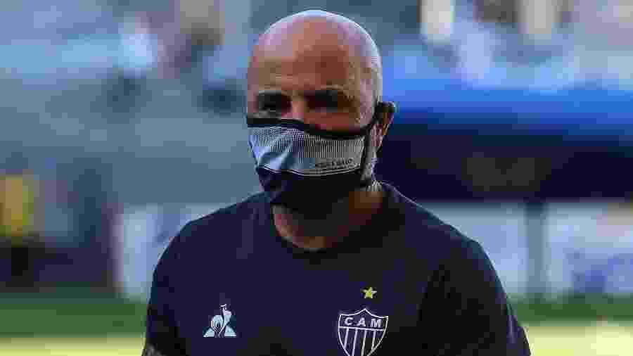 Jorge Sampaoli, técnico do Atlético-MG, espera por reforços no mercado da bola - Pedro Souza/Atlético-MG