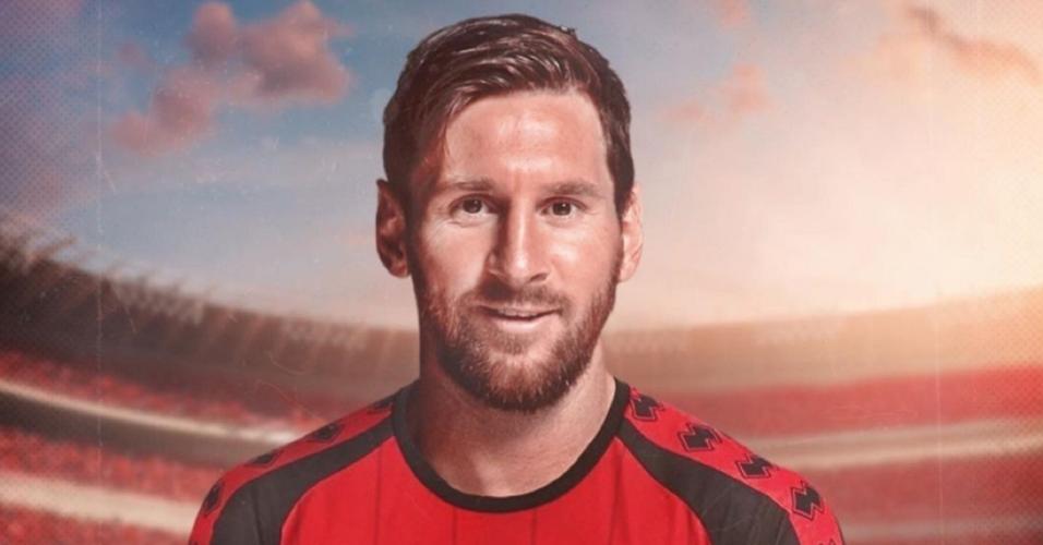 Íbis brinca com Messi e faz montagem do argentino com a camisa do