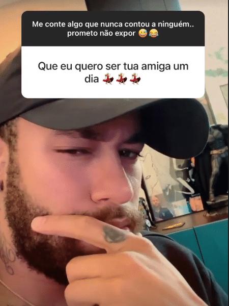 Neymar interagiu com seus seguidores no Instagram - Reprodução