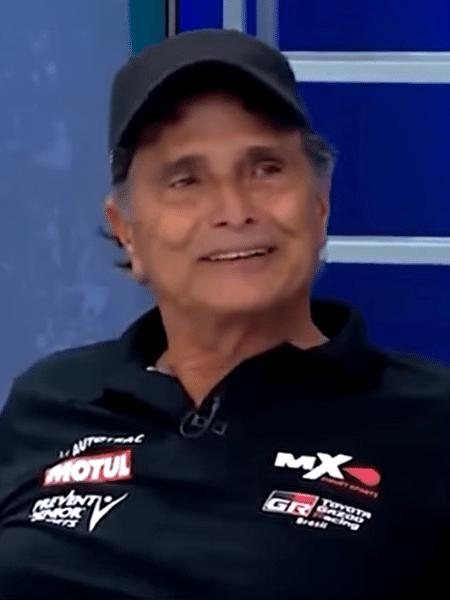 Nelson Piquet participou de programa da Band no dia da abertura da temporada 2021 da Fórmula 1 - Reprodução/TV Bandeirantes