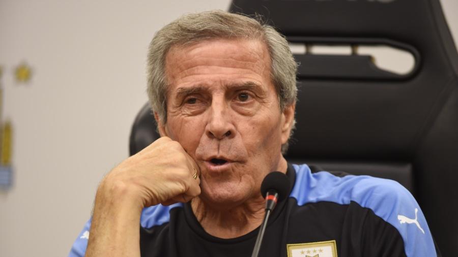 Óscar Tabárez, técnico da seleção do Uruguai - AFP PHOTO / MIGUEL ROJO