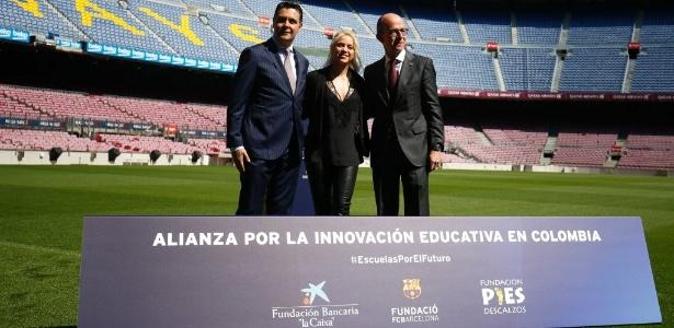Shakira apresentou projeto educacional na Colômbia em parceria com o Barcelona