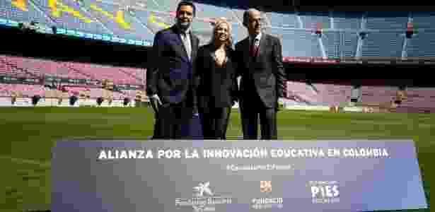 Shakira apresentou projeto educacional na Colômbia em parceria com o Barcelona - AFP PHOTO