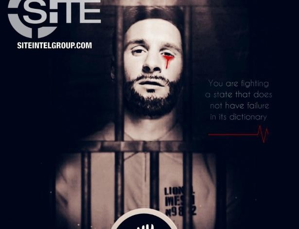 Messi prisioneiro e com sangramento em um dos olhos: ameaça de terrorismo na Copa - reprodução/Intelligence Group