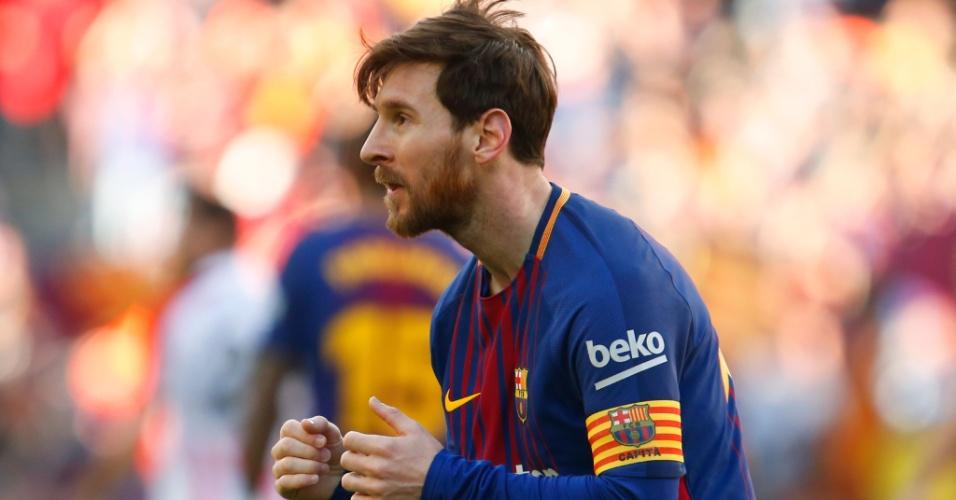 Messi faz uma dancinha para comemorar o seu gol contra o Athletic