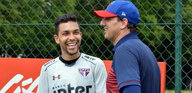 Rogério Ceni esteve no CT do SP para comandar treino do Fortaleza na última segunda