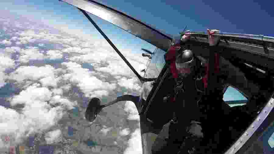 Paraquedista Diego Martins caiu na Rodovia Castello Branco - Reprodução/Facebook