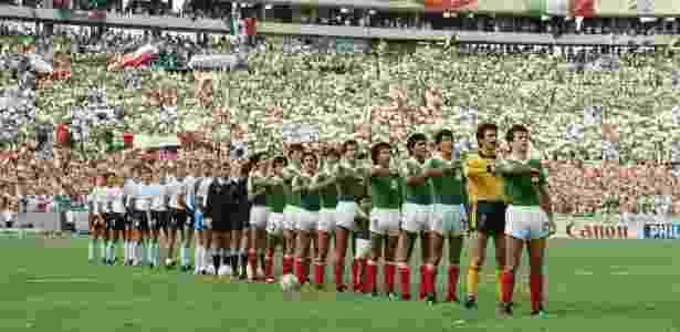 México x Alemanha Ocidental na Copa de 1986 - Mike King/Getty Images - Mike King/Getty Images