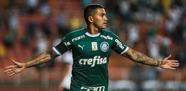 Dudu comemora gol do Palmeiras contra o Bragantino - Ale Cabral/AGIF