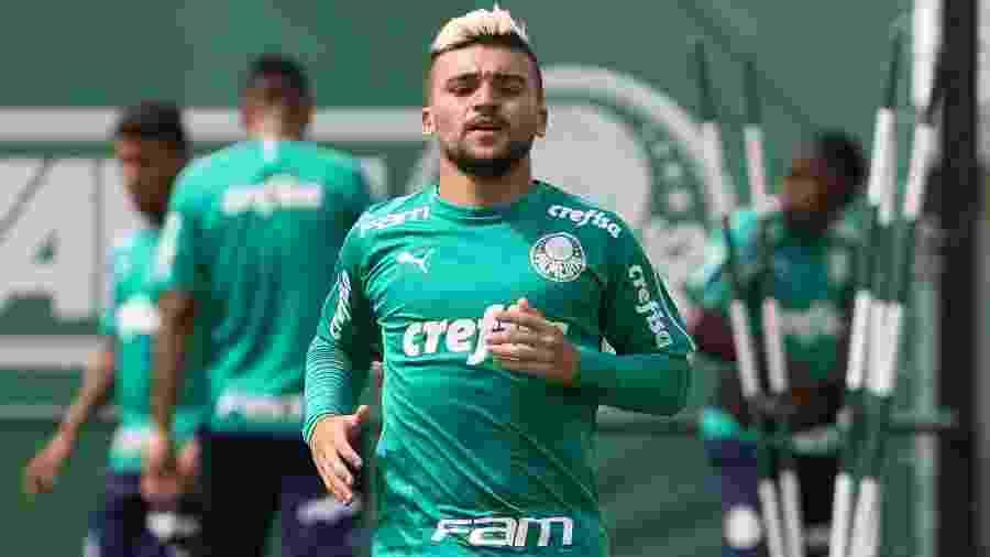 Victor Luís é um dos poucos jogadores do elenco que ainda não entraram em campo com Mano - Cesar Greco/Ag. Palmeiras/Divulgação