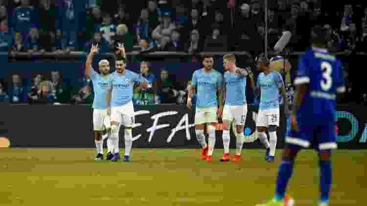 Aguero comemora gol - Odd Andersen/AFP - Odd Andersen/AFP