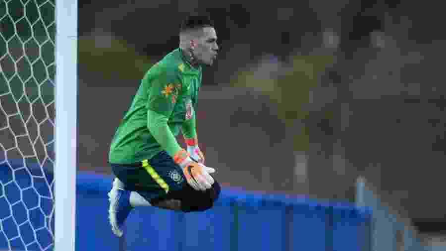 Goleiro do Manchester City foi um dos primeiros a chegar aos treinos da Granja Comary, em Teresópolis - Lucas Figueiredo/CBF