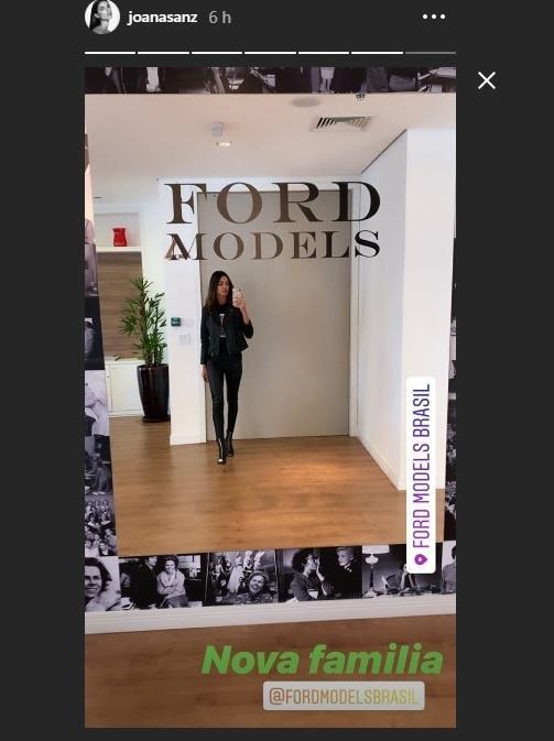 Joana Sanz mostra seu novo local de trabalho
