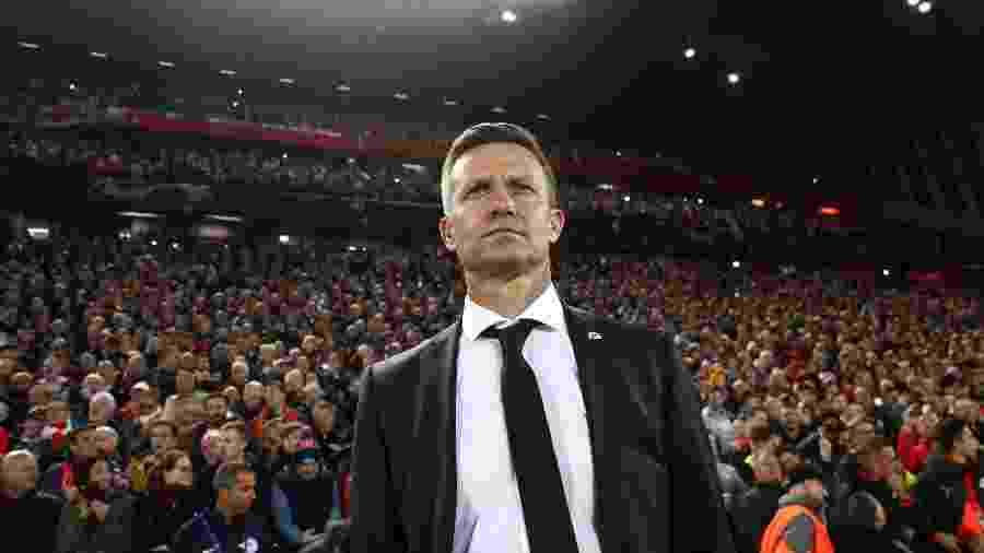 Jesse Marsh, técnico do Salzburg, durante partida contra o Liverpool - Robbie Jay Barratt - AMA/Getty Images