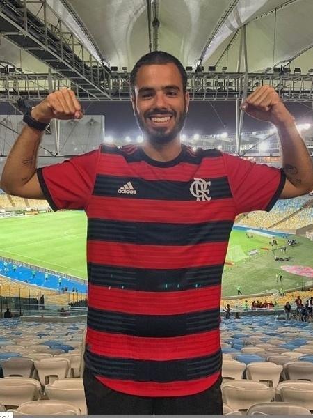 Tarcisio posa no Maracanã com a camisa do Flamengo - Reprodução Instagram
