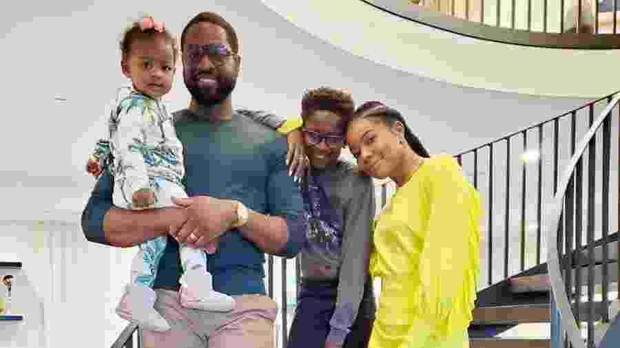 Dwyane Wade festeja Dia de Ação de Graças com a família - Reprodução/Instagram