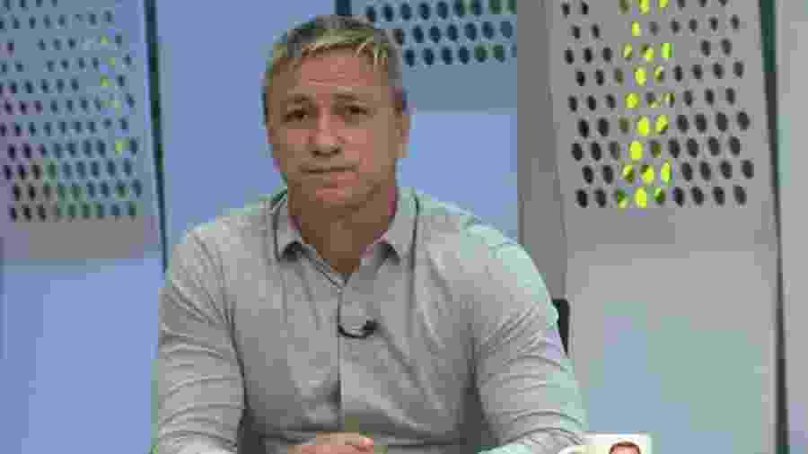 Paulo Nunes durante o programa Segue o Jogo - Reprodução/Globo