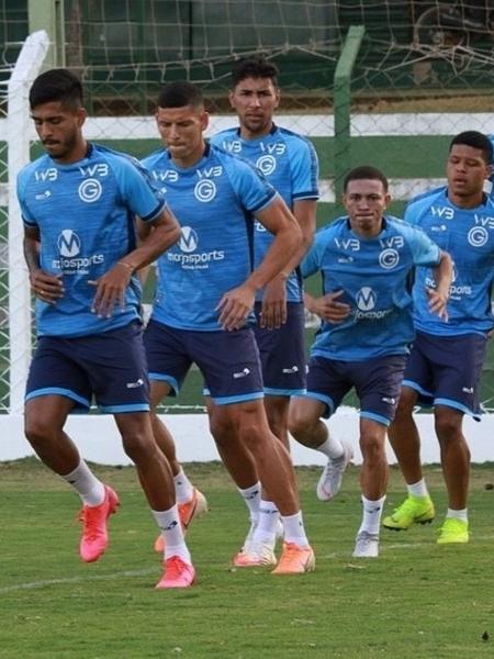 Jogadores do Goiás em treinamento - Divulgação