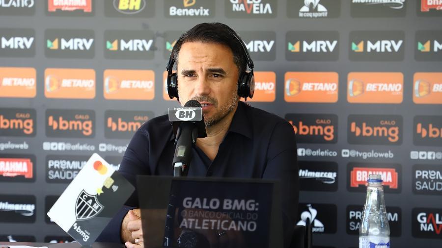 Rodrigo Caetano, diretor de futebol do Galo, garante que o clube buscará o novo treinador com paciência e critérios - Pedro Souza/Atlético-MG