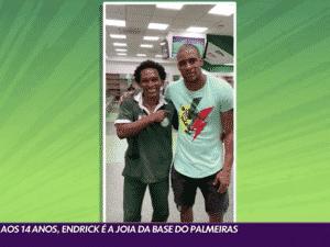 Jaílson e Douglas, pai de Endrick, jogador das categorias de base do Palmeiras - Reprodução / Globo - Reprodução / Globo