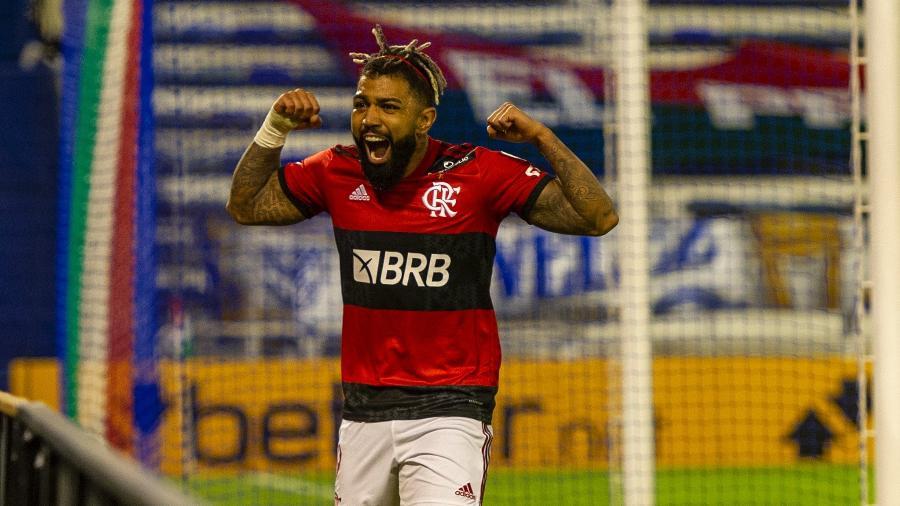 Gabigol faz o segundo do Flamengo contra o Vélez Sarsfield, pela Libertadores - Marcelo Cortes / Flamengo
