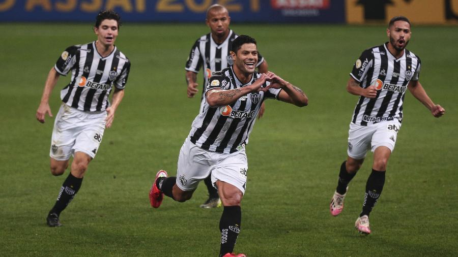 Hulk, do Atlético-MG, celebra gol contra o Corinthians - Ettore Chiereguini/AGIF