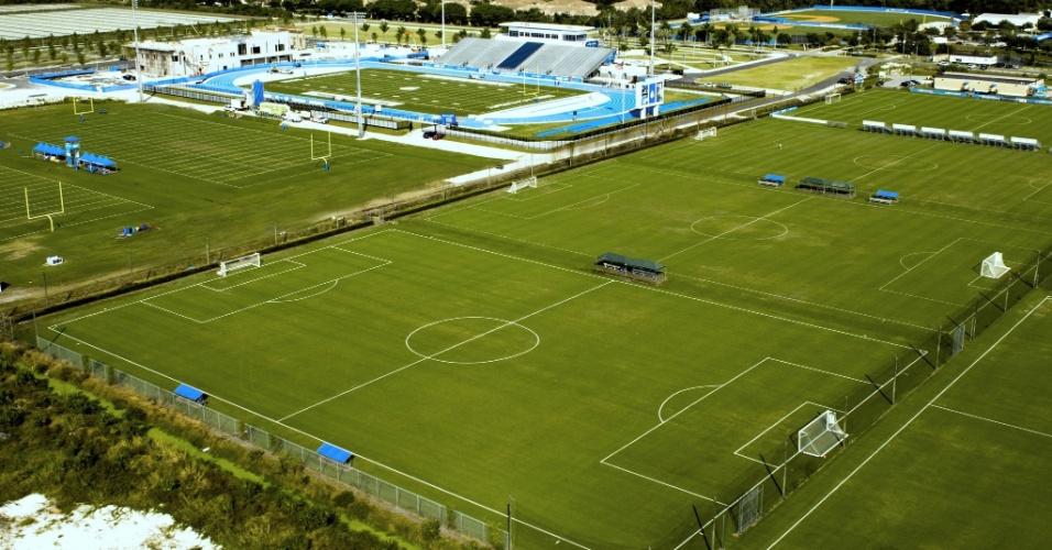 Centro de treinamento conta com mais de 20 de campos de futebol