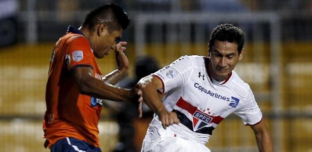 São Paulo derrotou o Cesar Vallejo-PER antes da fase de grupos da Libertadores - PAULO WHITAKER/REUTERS