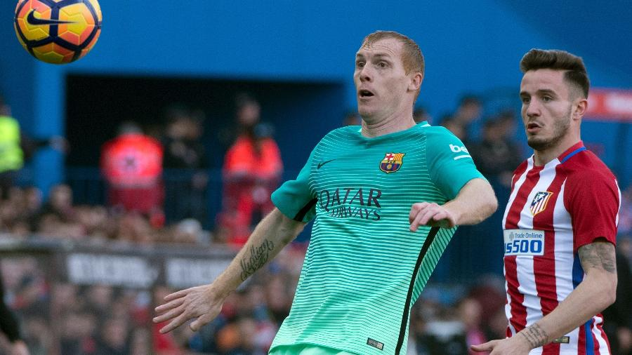 Jeremy Mathieu, zagueiro do Barcelona - Curto de la Torre/AFP