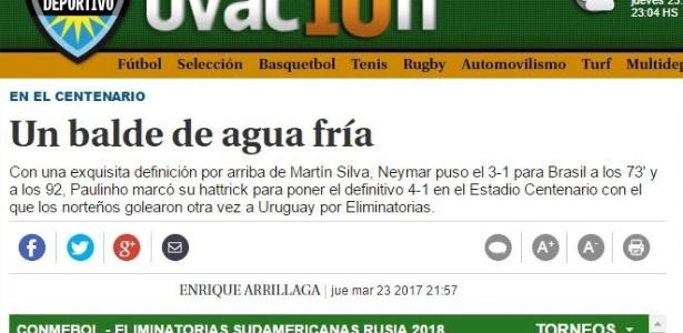 Suplemento Ovación deu destaque a exibição de Paulinho e a golaço de Neymar