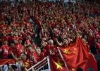 Time de Felipão é punido na China por faixa polêmica de torcida