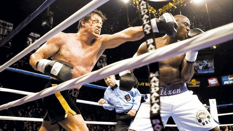 """O ator Sylvester Stallone durante cena do filme """"Rocky Balboa"""" - Divulgação"""