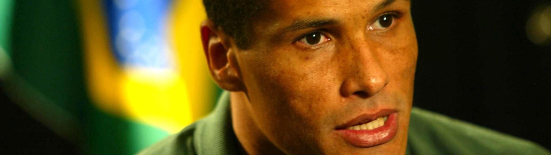 Rivaldo, meia da seleção brasileira, durante a Copa de 2002