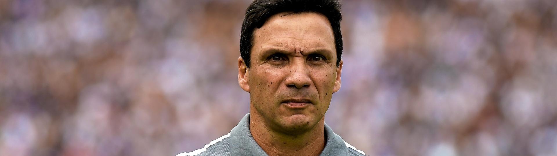 Zé Ricardo, técnico do Vasco, antes do jogo do time contra a Ponte Preta